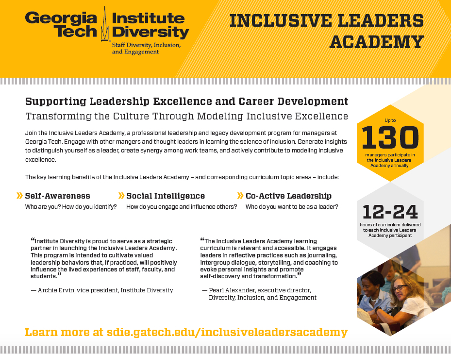 Inclusive Leaders Academy Flyer