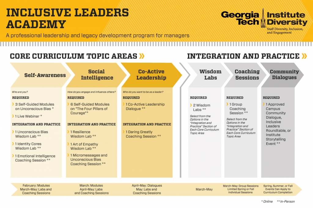 Inclusive Leaders Academy Program Process Graphic